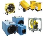 Environnement : ventilateurs, chauffage, déshumidificateur