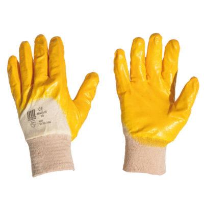 Gant coton enduit latex jaune